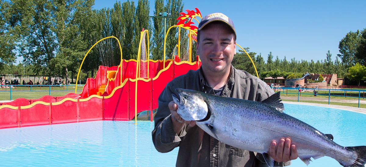 Pescan el campanu en las piscinas de valencia de don juan for Horario piscinas valencia de don juan